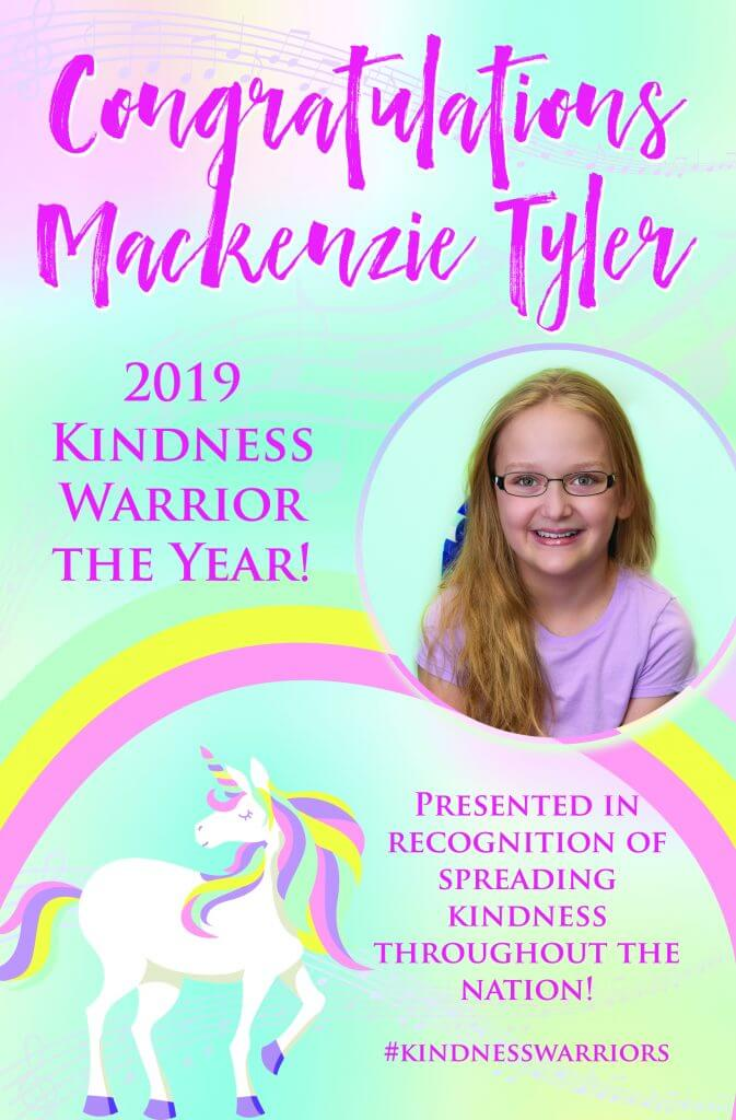Mackenzie 2019 Kindness Warrior of the Year